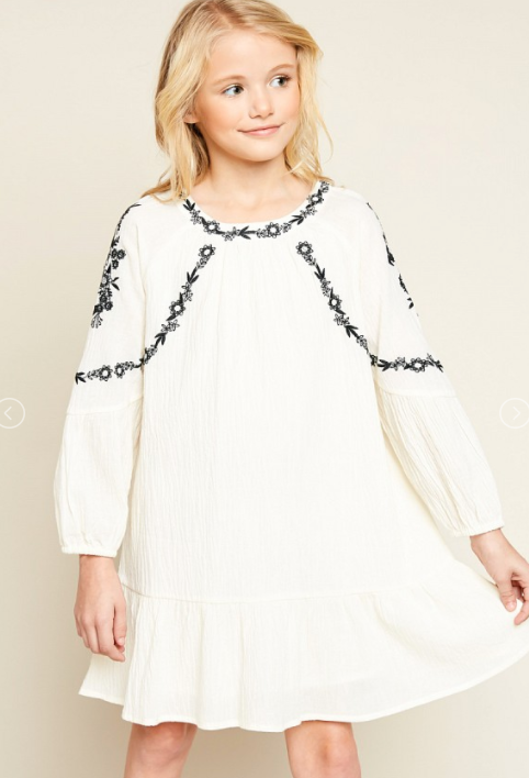 Girls Cream Dress - Shoppe3130
