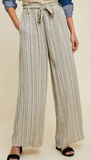 Belted Tribal Palazzo Pants - Shoppe3130