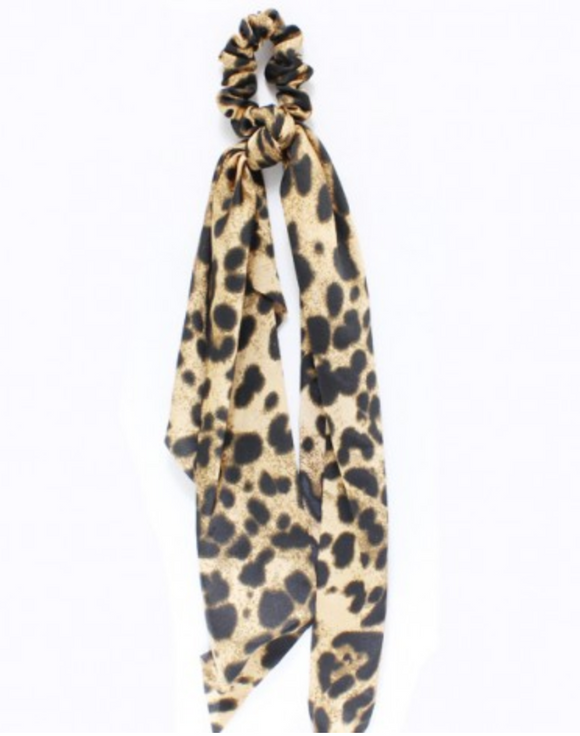 Leopard Ponytail Hair Scarf - Shoppe3130