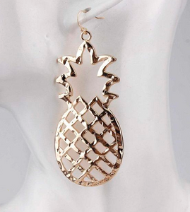 Metal Pineapple Earrings - Shoppe3130