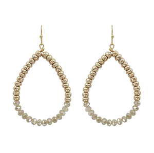 Natural Crystal Teardrop Earrings - Shoppe3130