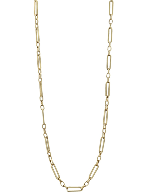 Matte Gold Link Chain Necklace