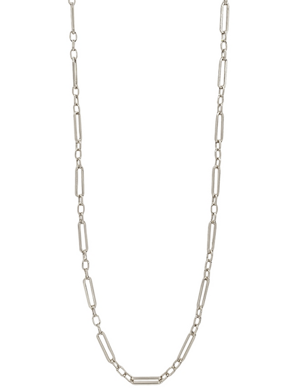 Silver Link Chain Necklace - Shoppe3130