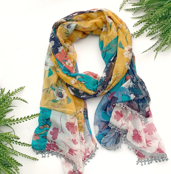 Mustard Multi Summer Scarf - Shoppe3130