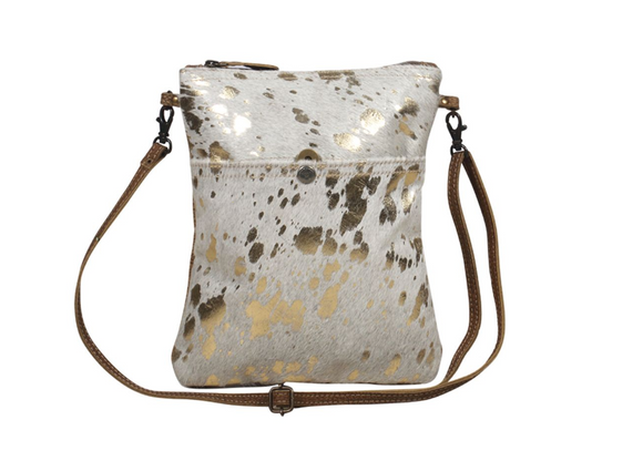 Myra Speckled Leather Small Crossbody Bag