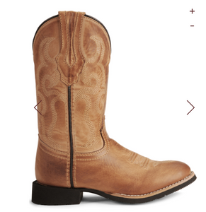 Ladies Bomber Tan Showdown Western Boot - Shoppe3130