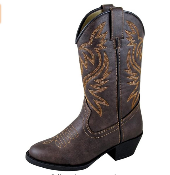 Toddler Brown Distressed Western Boots - Shoppe3130