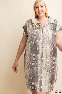 Snakeskin Tunic Dress - Shoppe3130