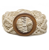 Wood Buckle Rope Braided Belt - Shoppe3130