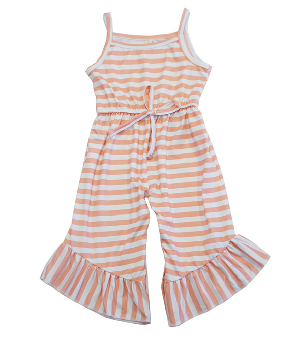 Pink & White Stripe Jumpsuit Romper - Shoppe3130