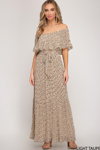 So Lovely Pleated Maxi Dress - Shoppe3130
