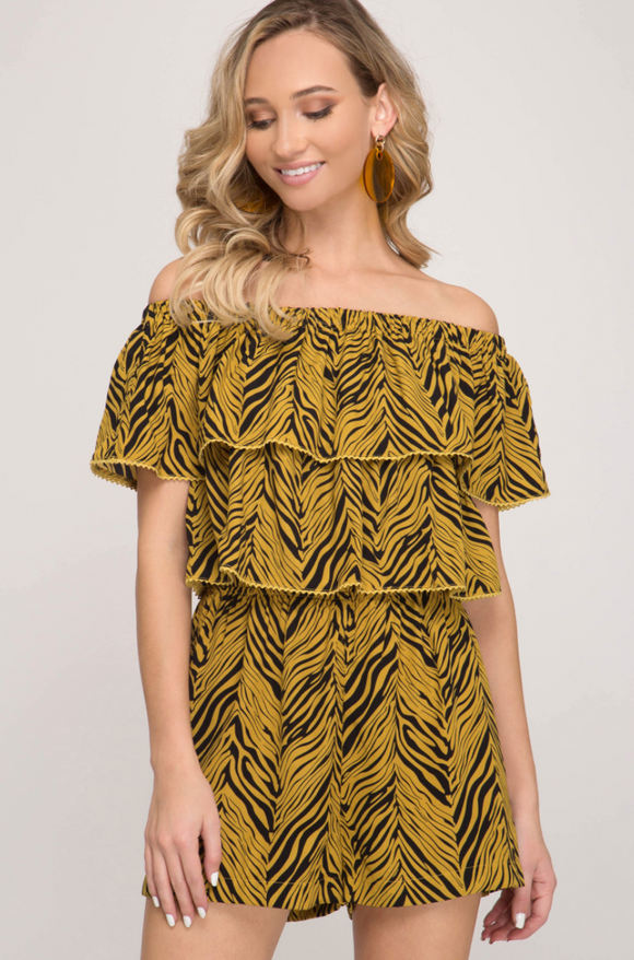 Wild About You Romper - Shoppe3130