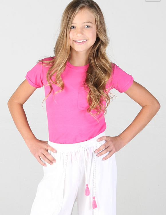 Think Pink Girls Pocket Tee - Shoppe3130