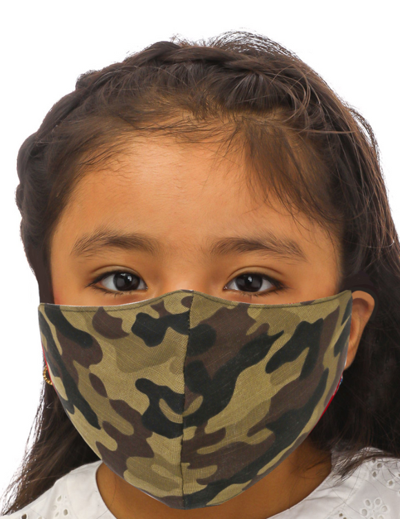 Camo Print Kids Face Mask - Shoppe3130