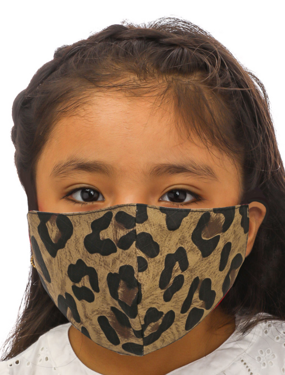 Leopard Print Kids Face Mask - Shoppe3130