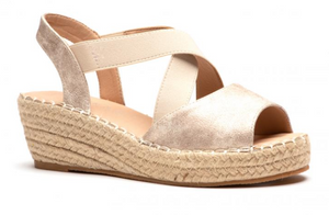Kimmie Gold Wedge - Shoppe3130