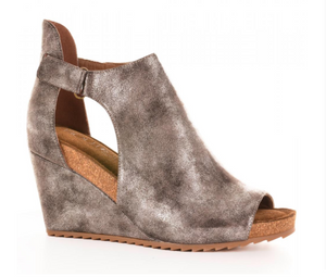 Sunburst Bronze Metallic Wedge - Shoppe3130