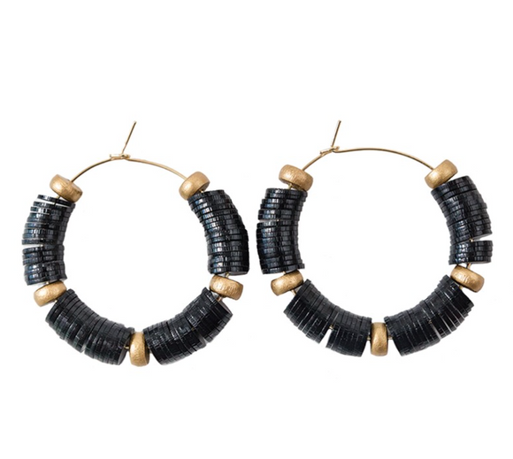 Victoria Falls Black Earrings