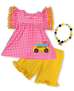 Girls School Bus Tunic Set