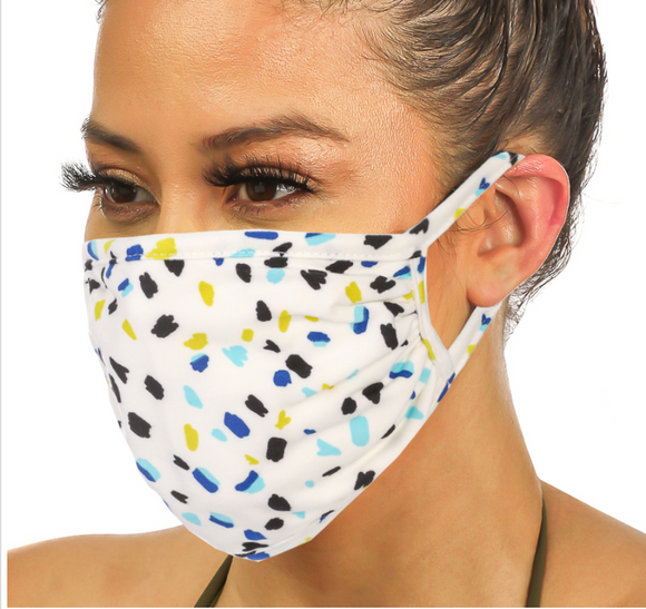 Double Layered Dotted Face Mask- Adult