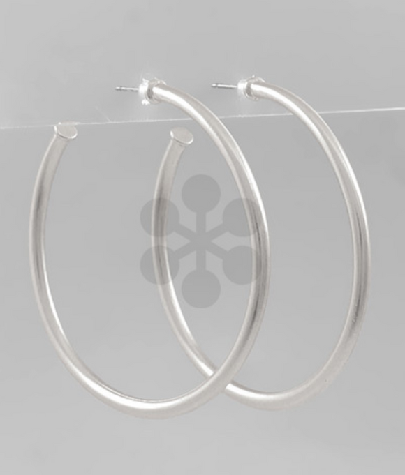 Skinny Open Hoop Earrings