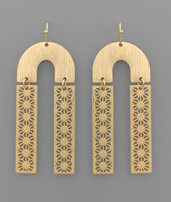 Filigree Arch Drop Earrings