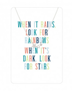Silver Stars Color Me Happy Necklace