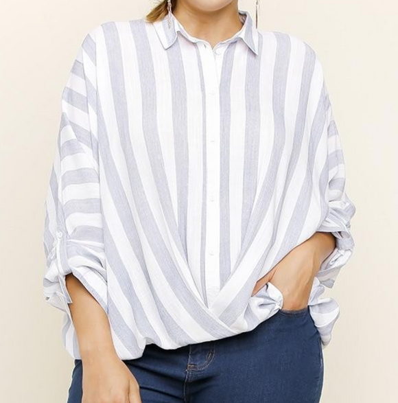 Stripes On The Cape Striped Top