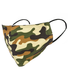 Adult Double Layered Camo Print Face Mask