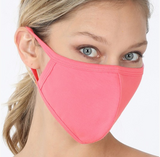 Solid Color Adult Cotton Face Mask