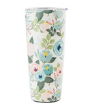 Stainless Steel Large Tumbler Peach Floral
