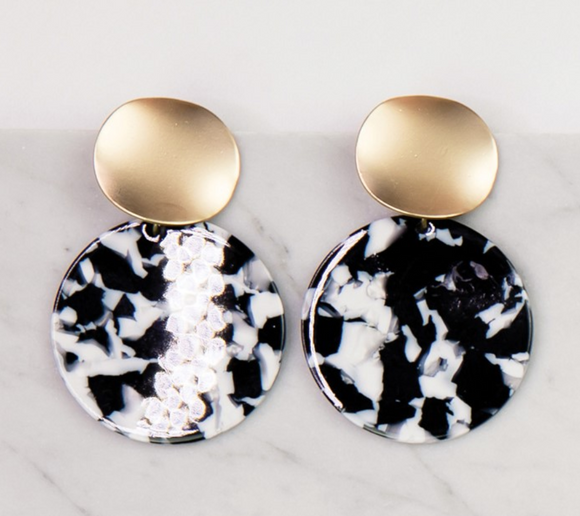 Barrington Black Tortoise Earrings
