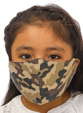 Camo Print Kids Face Mask