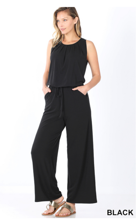 Sleeveless On The Move Black Jumpsuit