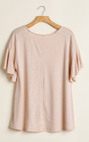 Blushing Babe Ruffle Sleeve Top