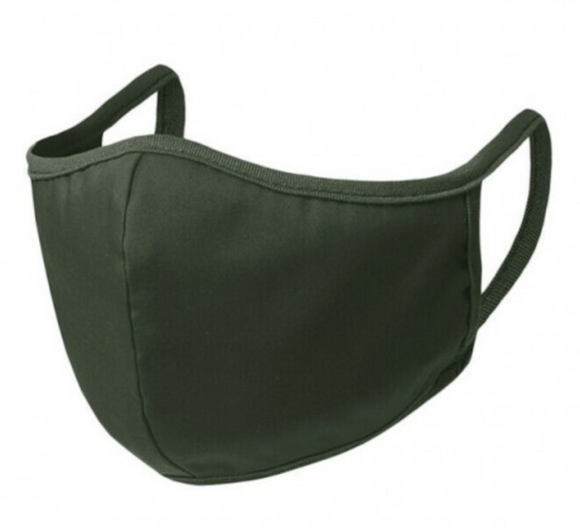 Olive Green Solid Adult Mask
