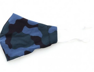 Blue Camo Adult Face Mask