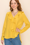Lux Ruffle Long Sleeve Blouse