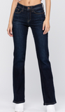 Whiskered Dark Boot Cut Judy Blue Jeans