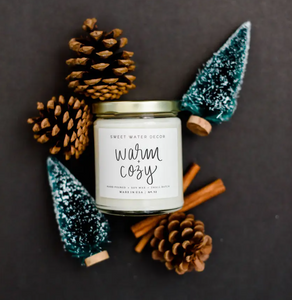 Sweet Water Warm and Cozy Soy Candle