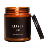 Sweet Water Amber Leaves Soy Candle