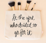 Be the Girl Who Canvas Zipper Bag