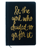 Be The Girl Who Canvas Journal