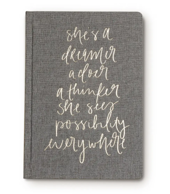 She's a Dreamer Canvas Journal