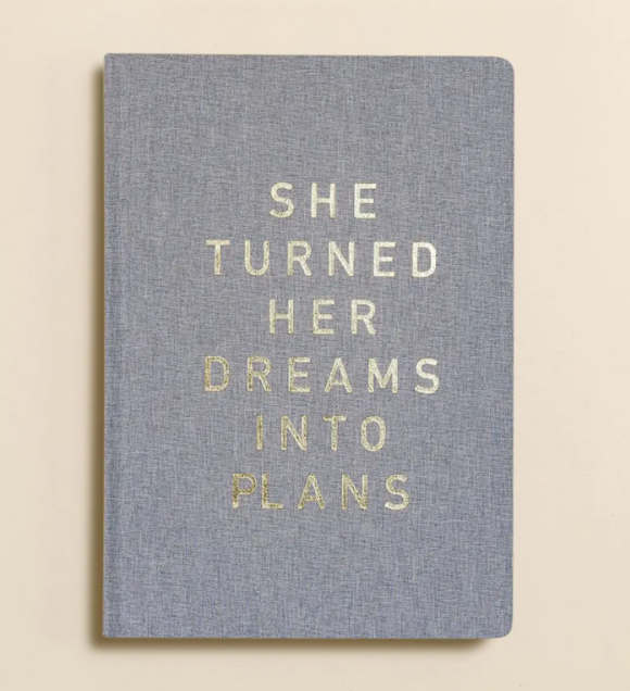 She Turned Her Dreams Into Plans Canvas Journal