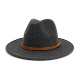 Brown Belt Panama Hat