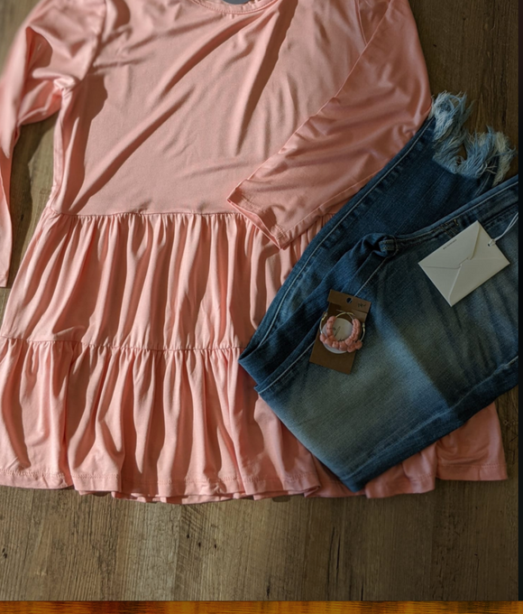 Blush Pink Tiered Top