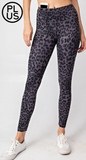 Plus Animal Print Black Super Soft Leggings