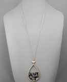 Acrylic Teardrop Necklace