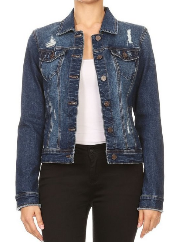 Dark Stone Wash Denim Jacket